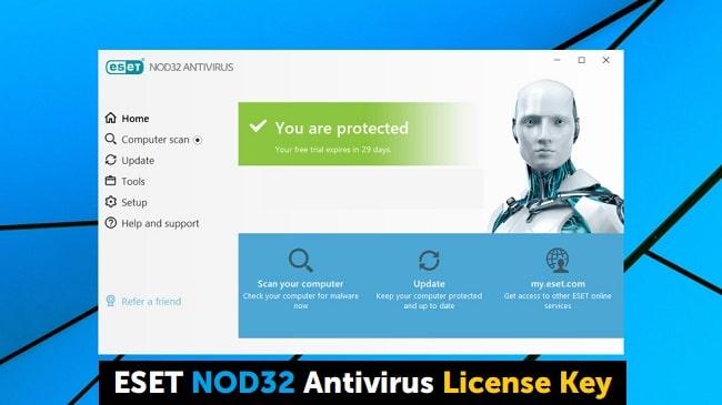 ESET Nod32 Antivirus 13 license key 2020 Free