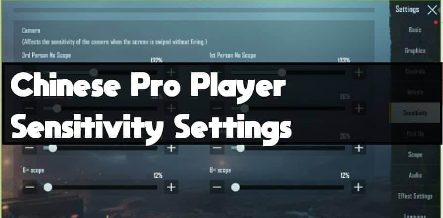 Best Chinese Pro Player Sensitivity Settings for Pubg ...