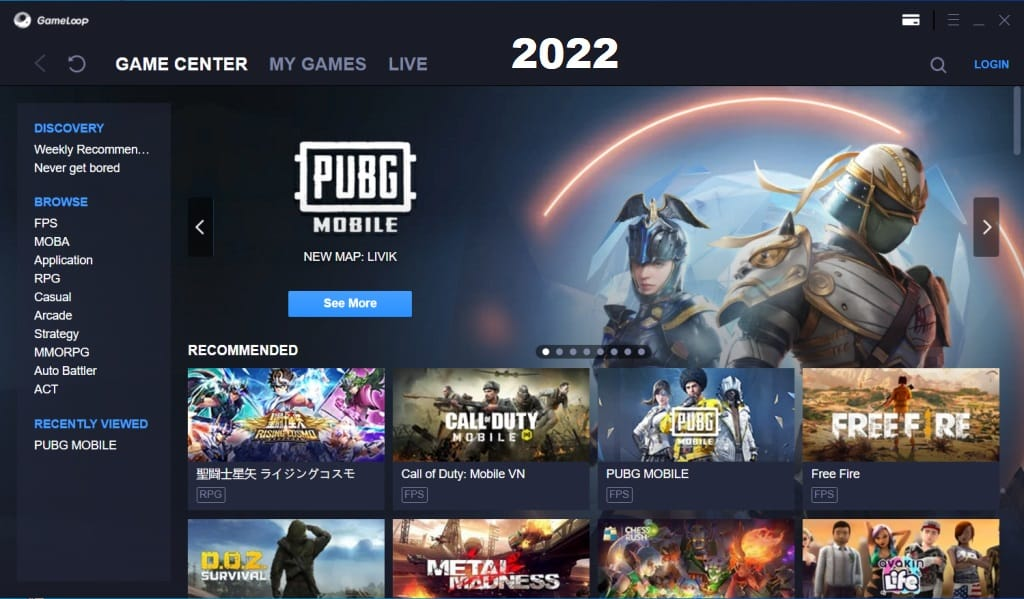 Gameloop Console to install pubg mobile